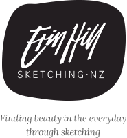 Erin Hill Sketching New Zealand Logo