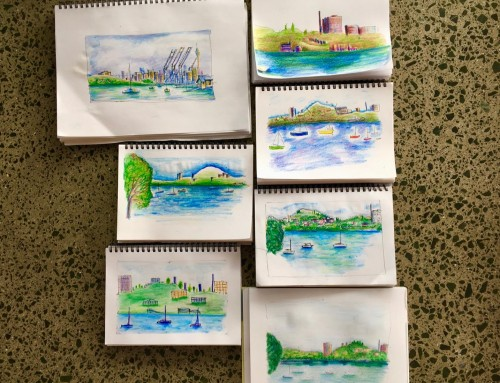 New Sketchers – week 3. Aquarelles and water brush
