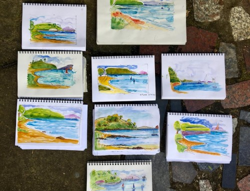 New sketchers . Week 3 : water and sea vistas