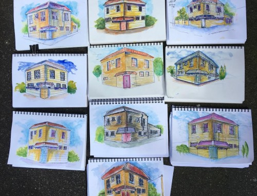New sketchers : week 6. 2 point perspective  – great works all.