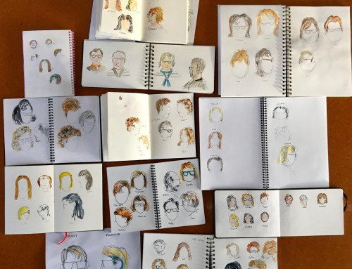 week 2: Ongoing sketchers. Its what goes on heads…. hair and hats