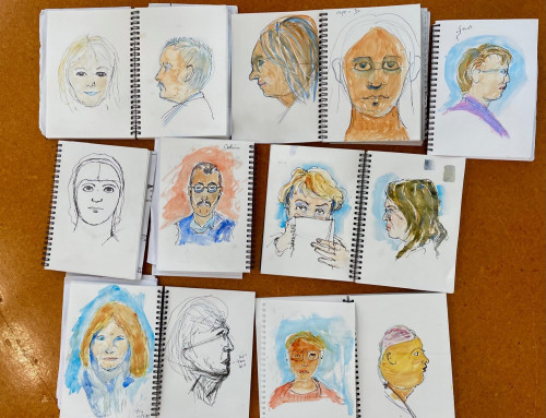 new sketchers : faces and people – pen and watercolour