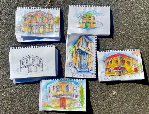 New sketchers: 2 point perspective. This class makes it easy…